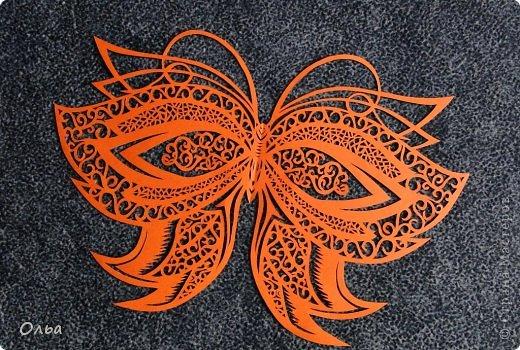 Поделка изделие Вырезание Цветные бабочки Бумага фото 7