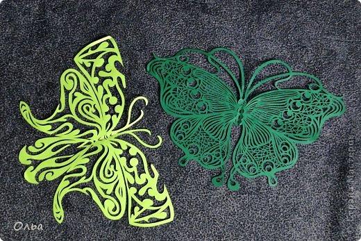 Поделка изделие Вырезание Цветные бабочки Бумага фото 4