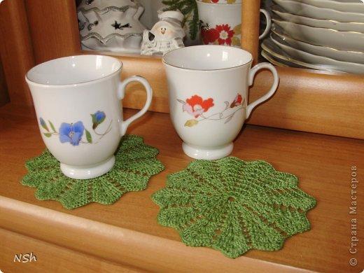 Вязание крючком - Чайный набор салфеток.