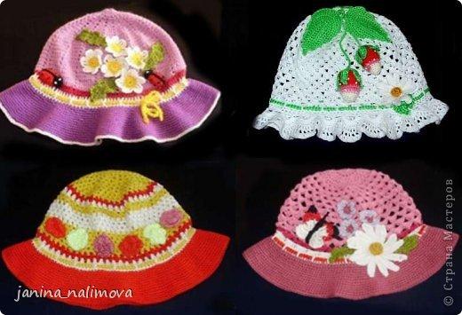 шляпки панамки для девочки страна мастеров