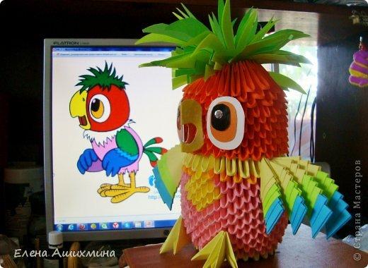 Попугай Кеша Бумага фото 1