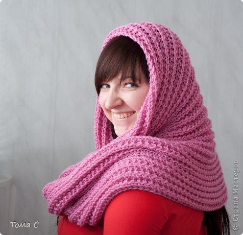 Вязание спицами шарфов-снудов