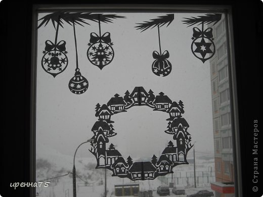 Вырезание силуэтное - Зимний наряд для окон.