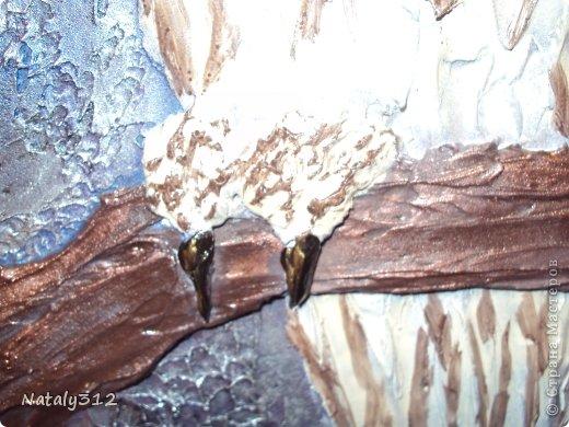 Панно делалось по заказу одной замечательной женщины. Размер 110 Х 75 см. Фанера, раскладка (рама), шпатлевка и искусственные дубовые листья. фото 5