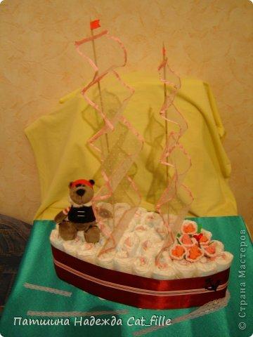 Корабль из памперсов   Страна Мастеров: http://stranamasterov.ru/node/509846