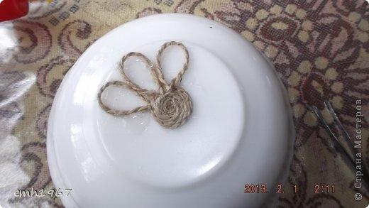 """Пообещала рассказать о том, как я делаю свои плетеночки. Возьмем шпагат, клей """"Титан"""" фото 3"""
