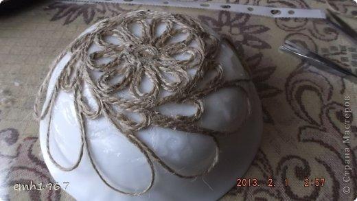 """Пообещала рассказать о том, как я делаю свои плетеночки. Возьмем шпагат, клей """"Титан"""" фото 8"""