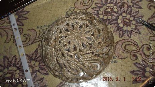 """Пообещала рассказать о том, как я делаю свои плетеночки. Возьмем шпагат, клей """"Титан"""" фото 11"""