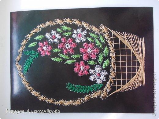 Картина панно рисунок Изонить изонить Нитки фото 4.