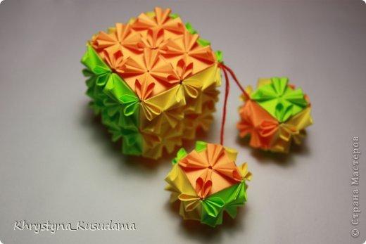 Кусудама Оригами кубик-рубик