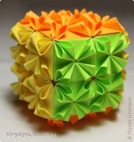 Как сделать из бумаги оригами кубик рубик