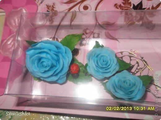 Всем привет!!!!!!!! Хочу показать вам чем закончилась моя попытка слепить голландскую розу.......  Кажется получился гибрид какой-то))))) фото 5