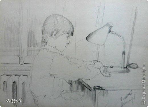 Картина панно рисунок Словотворие Рисование и живопись Жизнь в картинках 2 Бумага Карандаш фото 10.