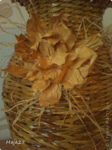 Первый раз попробовала сделать цветок из акварельной бумаги.