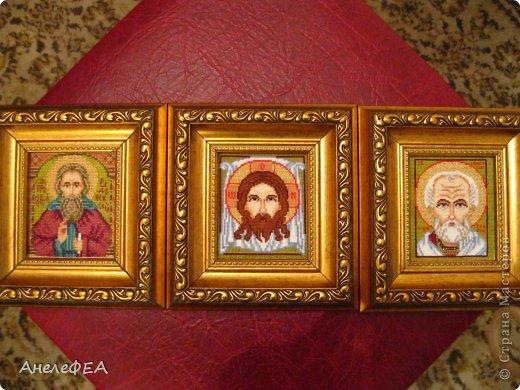 Картина панно рисунок День рождения Вышивка крестом Иконки Канва Нитки фото 5.