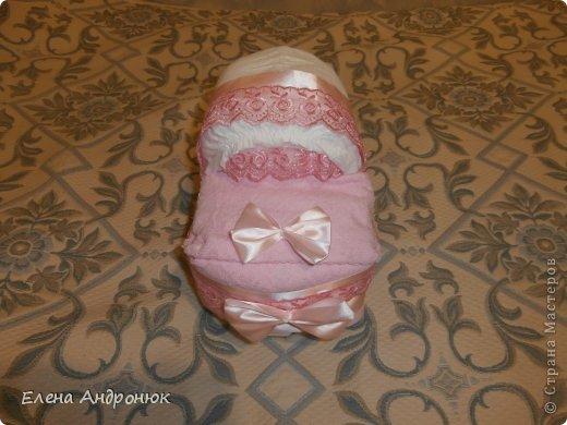 Коляска из подгузников. Подарок новорожденной племяннице. фото 2