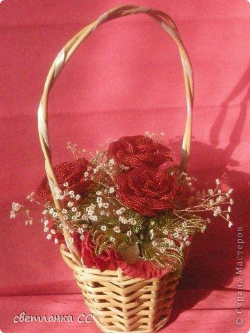 Корзина с розами фото 3