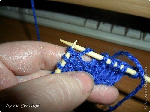Гардероб Мастер-класс Вязание спицами Вязание тапочек-следочков Пряжа фото 16