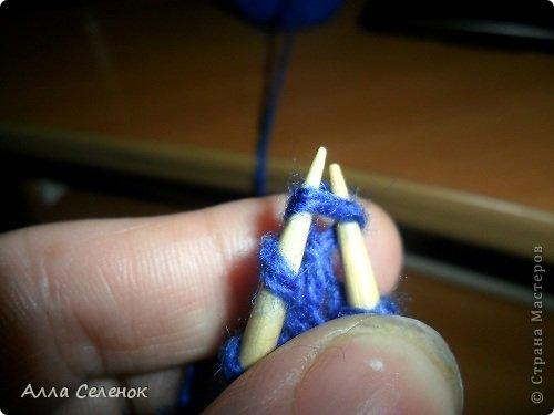 Гардероб Мастер-класс Вязание спицами Вязание тапочек-следочков Пряжа фото 19