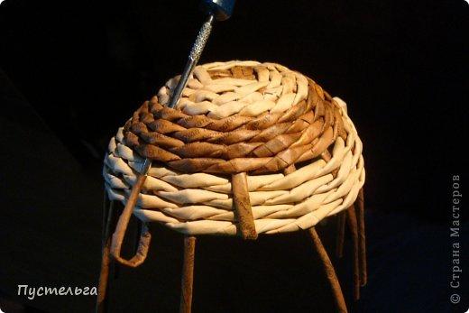 Поделка изделие Плетение Черепашка и снегирь Бумага газетная фото 11