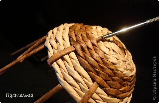 Поделка изделие Плетение Черепашка и снегирь Бумага газетная фото 12