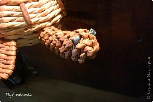 Поделка изделие Плетение Черепашка и снегирь Бумага газетная фото 16
