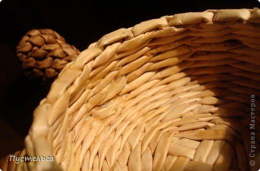 Поделка изделие Плетение Черепашка и снегирь Бумага газетная фото 20