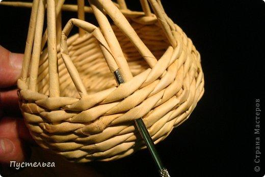 Поделка изделие Плетение Черепашка и снегирь Бумага газетная фото 3