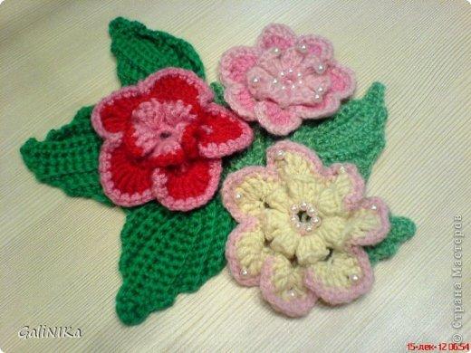 Вязание крючком Цветочки и