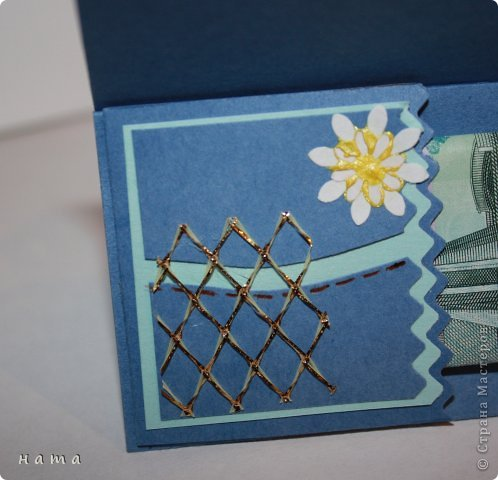 Открыточка Днерождевская с кармашком для денежки 9*9  в сложенном виде (как блоки для записей размер) фото 6