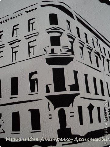 Картина панно рисунок Экскурсия Вырезание Дом Раскольникова Картон фото 2