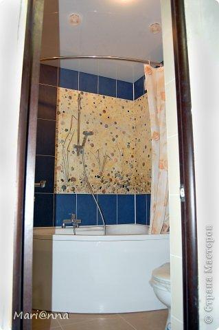 Доброго дня всем жителям Страны Мастеров! Знакомые попросили сделать панно над ванной. Увидели у меня и им захотелось. Приятно когда твои работы нравятся. Но не хотелось повторяться. А получилось наоборот. Практически повторила. фото 7