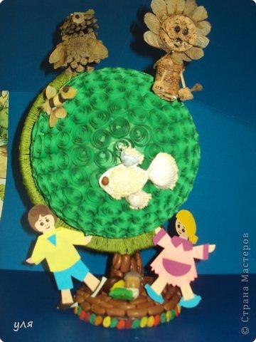 """Источник.  Такую поделку я сделала с детками на конкурс  """"Зеленоватая планетка """" ."""