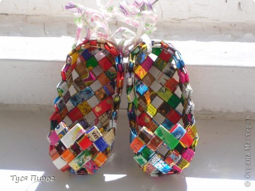 Поделки из фантиков от конфет своими рукам
