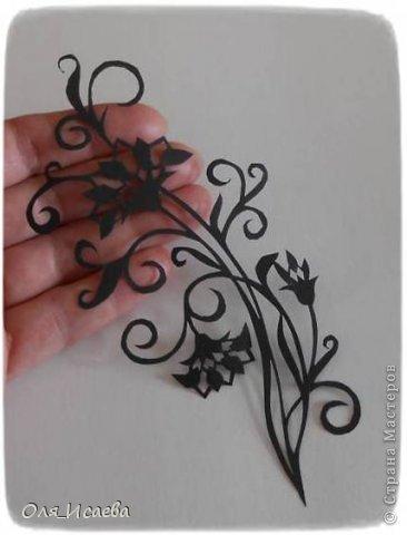 Картина панно рисунок Вырезание Цветок Бумага фото 2