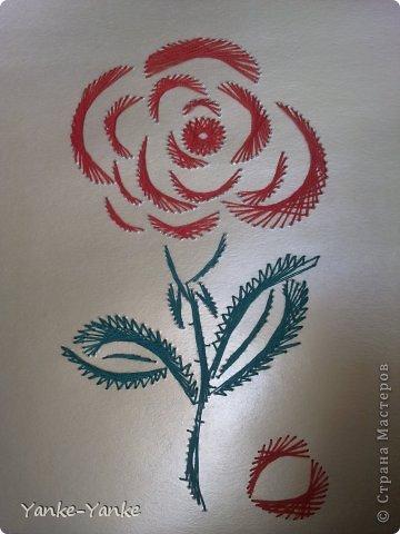 Открытки Роза (изонить) Со