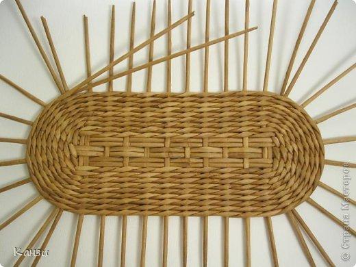 Газетное плетение овальных корзин