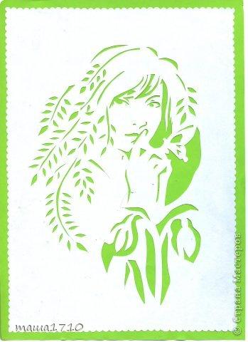 Картина панно рисунок Вырезание Ой заразилась вытынанки Бумага фото 2
