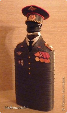 Бутылка офицер своими руками мастер класс