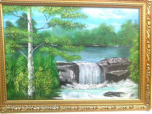живопись водопад: