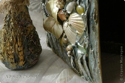 Декор предметов Коллаж Книга с террой Бутылки стеклянные Материал природный Мешковина Салфетки Ткань фото 3