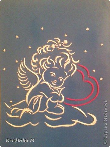 рисунок Изонить Ангелочек