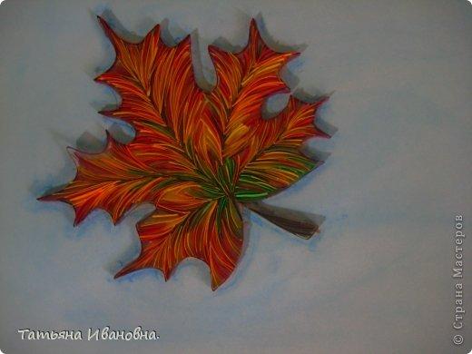 Кленовые листья в технике квиллинг. Мастер-класс