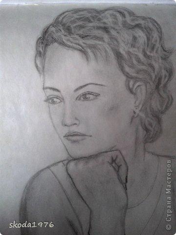 рисунок мамы карандашом: