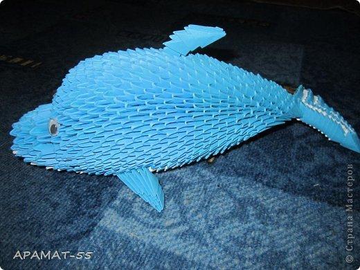 Оригами схема дельфин