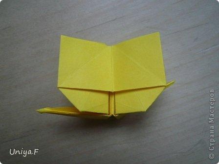 Привет друзьям!  Кусудама, про которую я решилась вам напомнить, была придумана год назад. И в силу определенных обстоятельств туториал на нее был размещен в All-origami. И, к большому сожалению, про кусудаму забыли. А она, честное слово, очень красивая. Ее можно сравнить с Монблосс и Азалией Татьяны Высочиной. Такая же цветочная и воздушная.  Поэтому, зная, что вы сейчас готовите весенние подарки, я решила выложить в СМ повторный МК. Буду рада, если он вам пригодится.  Name: Wild Rose Designer: Uniya Filonova Parts: 30 + 60 Paper: 6,5*6,5 + 8,5*8,5 Final height: 12 сm Assembled without glue.  модель принимала участие во флешмобе http://stranamasterov.ru/node/547199?tid=2168%2C850 фото 26