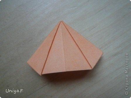 Привет друзьям!  Кусудама, про которую я решилась вам напомнить, была придумана год назад. И в силу определенных обстоятельств туториал на нее был размещен в All-origami. И, к большому сожалению, про кусудаму забыли. А она, честное слово, очень красивая. Ее можно сравнить с Монблосс и Азалией Татьяны Высочиной. Такая же цветочная и воздушная.  Поэтому, зная, что вы сейчас готовите весенние подарки, я решила выложить в СМ повторный МК. Буду рада, если он вам пригодится.  Name: Wild Rose Designer: Uniya Filonova Parts: 30 + 60 Paper: 6,5*6,5 + 8,5*8,5 Final height: 12 сm Assembled without glue.  модель принимала участие во флешмобе http://stranamasterov.ru/node/547199?tid=2168%2C850 фото 35