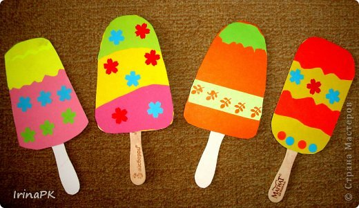 Поделка мороженое своими руками