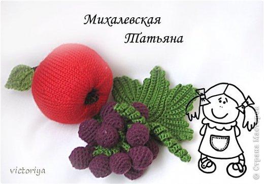 спицами Вязаные фрукты