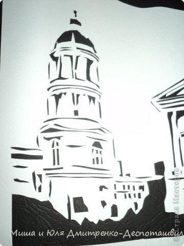 Картина панно рисунок Поделка изделие Вырезание Лепка Владимирский собор и мини-подсвечник Глина Картон фото 2